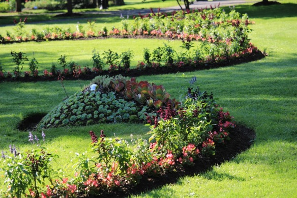 One of the Serpentine bed at the Halifax Public Gardens