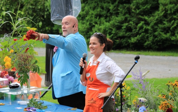 Neville MacKay and Tracy Melvin-Jessens at Dahlia Day 2015 at the Halifax Public Gardens