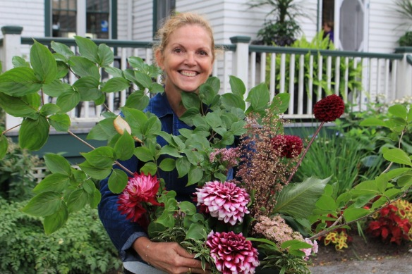 Winner of a floral arrangement at Dahlia Day at the Halifax Public Gardens