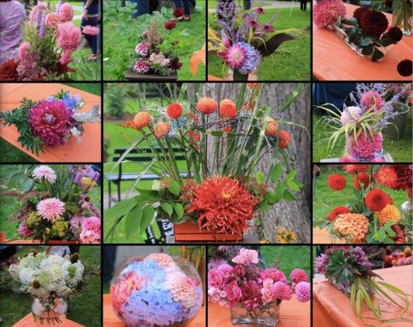 Floral arrangements at Dahlia Day at the Halifax Public Gardens
