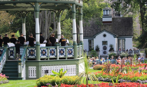 From the perspective of The Halifax Trombone Summit playing at the Halifax Public Gardens