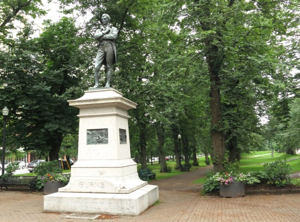 The statue of Robbie Burns in Victoria Park, Halifax, NS.
