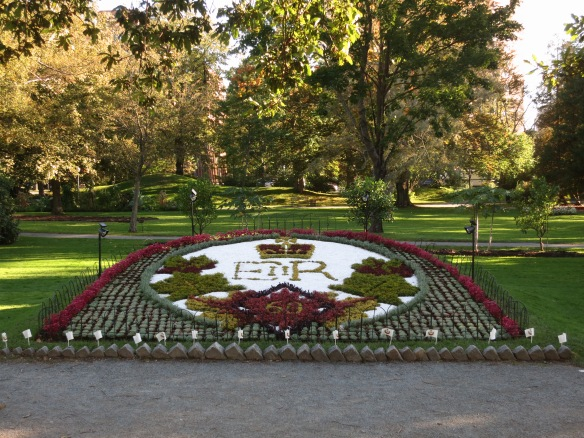 Carpet beds at the Halifax Public Gardens 2012